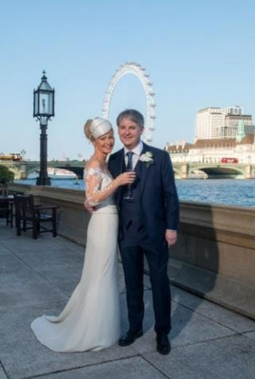 Esther McVey and Philip Davies on the House of Commons Terrace. Picture by Ash Bosamia