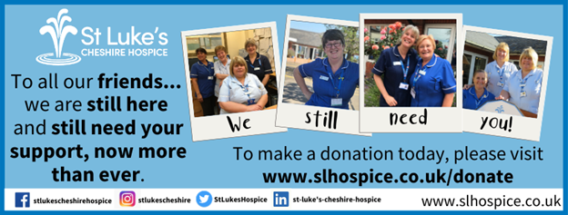 St Lukes Hospice Dazzling displays advert