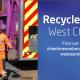 CWAC bin lorry and operator carrying food bin