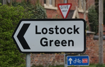 Lostock Green Road Sign pointing right