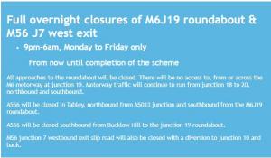 m6 diversion info